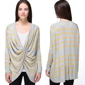 Lululemon Twist & Wrap Pop Stripe Yellow Grey 6 M